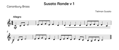 Thumbnail image of brass music by Susato
